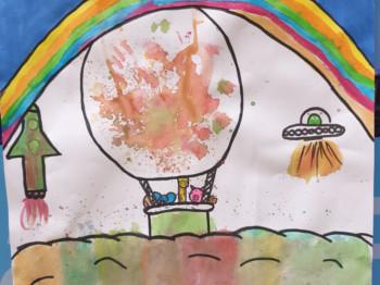 Luchtballon tekening 2